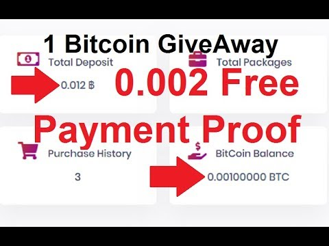 NEW Free Bitcoin Cloud Mining Site 2019   0.002 Bitcoin Free   1 Bitcoin Give Away  on this  video
