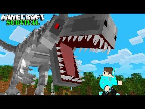 KITA MENEMUKAN CARA MENGHIDUPKAN DINO TERBESAR YANG PERNAH ADA ! Minecraft Survival #77