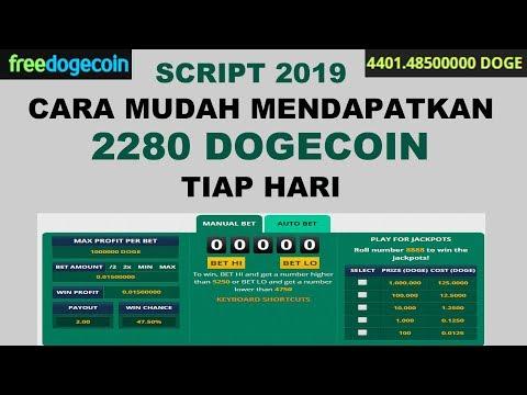SCRIPT 2019 – Profit Mudah 2280 DOGECOIN Dalam Sehari