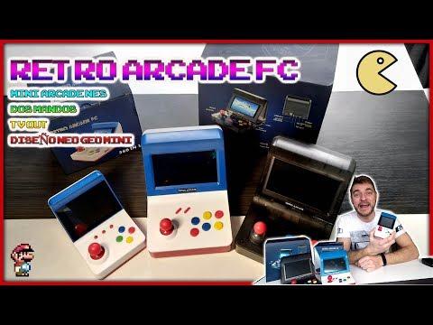 🕹️RETRO ARCADE FC, Neo Geo mini clon mas pequeña de todas, Nes