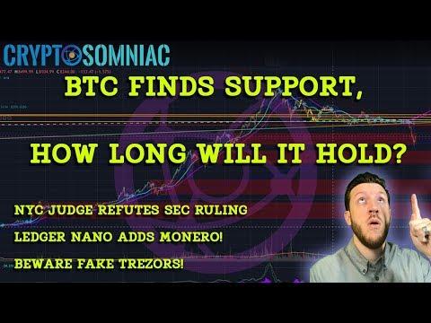 NYC Judge Flouts SEC Ruling 📈 |Binance Calls XVG Gold?!? 😅 | Ledger Adds Monero XMR 😆