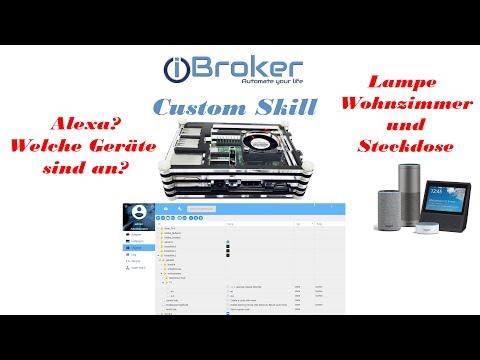 Alexa Abfragen nach Status von Geräten. ioBroker Costum Skill. iot
