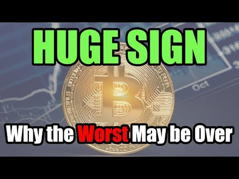 HUGE Sign Why Bitcoin and Cryptocurrency Worst May be Over