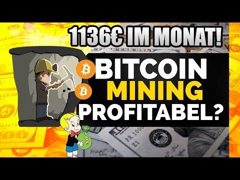 1136€ Passives Einkommen im Monat! BITCOIN MINING in Deutschland Profitabel??Rechnung und Erklärung