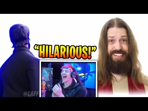 Ninja Reacts To DO FORTNITE CHARACTERS GO TO HEAVEN?! (BCC TROLLING)