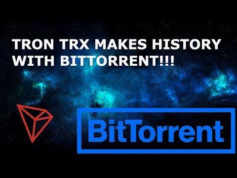 TRON TRX MAKES HISTORY WITH BITTORRENT!!! BTT TOKEN