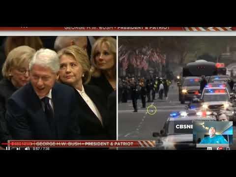 Bush Funeral..Hakrab Eos ( Scorpion Morning Star) shushes Clinton
