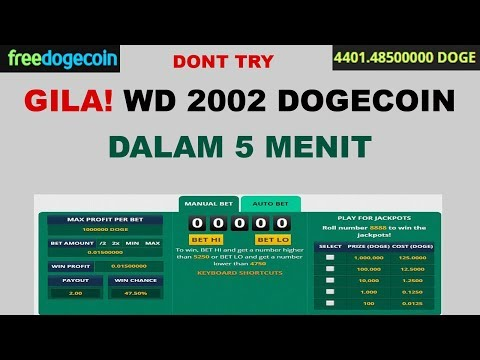 Withdraw 2002 DOGECOIN Dalam 5 menit – Challenge Dogecoin GILA (dont try)