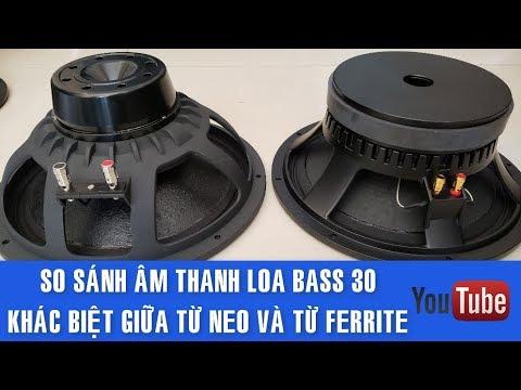 So Sánh Chất Âm Loa Bass 30, Từ Neo Và Từ Ferrite