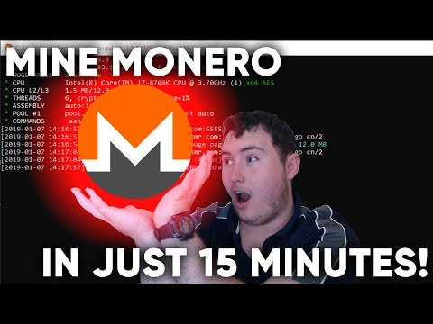 MINE MONERO using your CPU in less than 15 MINUTES!