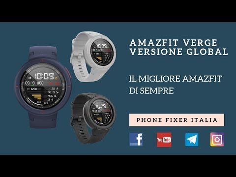 Amazfit Verge GLOBAL – il miglior sport watch di Xiaomi – recensione by PHONE FIXER ITALIA