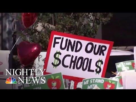 Los Angeles Teachers Union On The Verge Of Massive Teachers Strike | NBC Nightly News