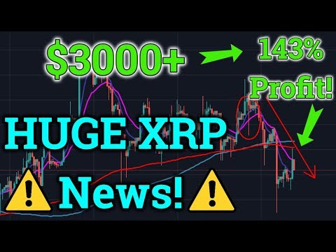 HUGE Ripple XRP News! 143% ($3000+) Profit Trading?! Cryptocurrency + Bitcoin BTC Price 2019