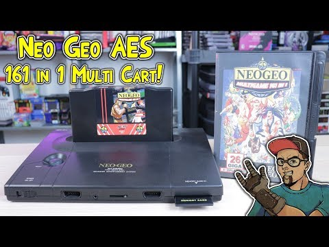 Neo Geo AES Multi Cart 161 in 1 Game Cartridge Review!