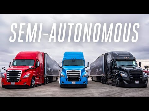 First ride in the Daimler semi-autonomous truck