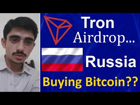 Russia buying 10 billion dollar bitcoin…. Tron air drop will you get BTT tokens?? |Urdr/Hindi…