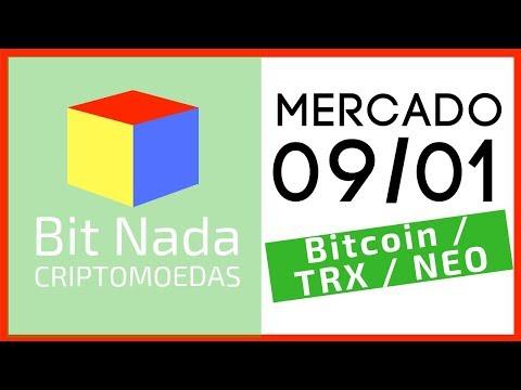 Mercado de Cripto! 09/01 Bitcoin / TRON / NEO / Bitcoin conto de fadas?