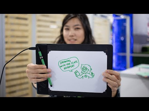This drawing tablet lets you use real art supplies