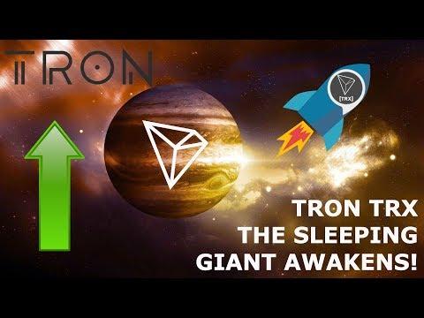 TRON TRX THE SLEEPING GIANT AWAKENS! HODLGANG!