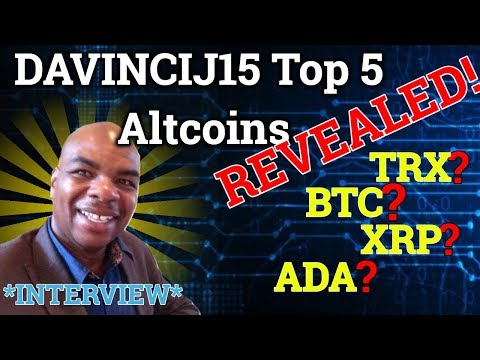Davincij15 Reveals His Top 5 Altcoin Holdings + Cryptocurrency Trading Strategy! (Bitcoin News)