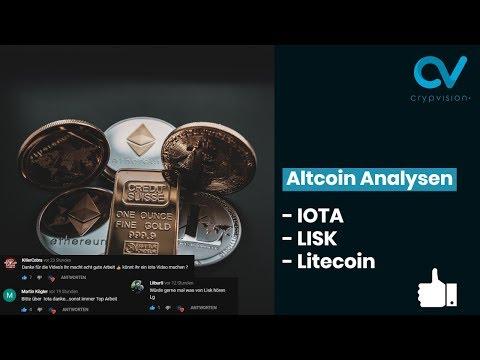 Altcoin Analysen zu IOTA, Lisk und Litecoin!