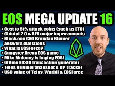 EOS Mega Update 16 – Chintai v2.0 & REX, Gangster Arena, Scatter Exchange IN Wallet, Audit, EOSForce