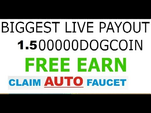 NEW SITE 1.5 DOGE 1350000 sat AUTO CLAIM NON-STOP DOGECOIN FAUCET  Every 10 mits