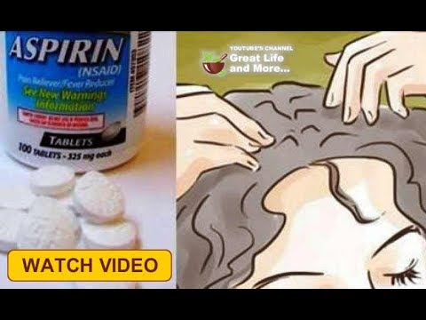 If You Crush Aspirin And Rub It Into Your Hair, This Is What Happens  I Can't Wait To Try This 😱