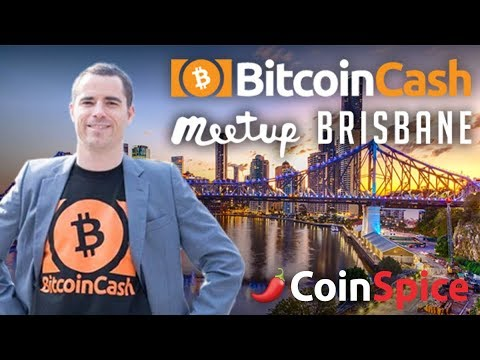 Roger Ver video calls into Brisbane – Bitcoin Cash meetup