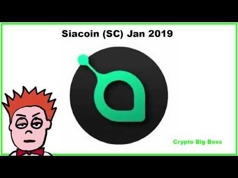 Siacoin Jan 2019