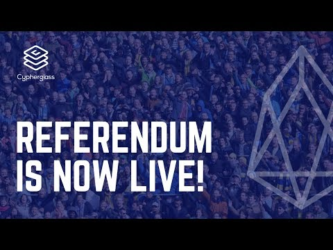 Referendum is LIVE! (How to Vote for EOS Referendum)