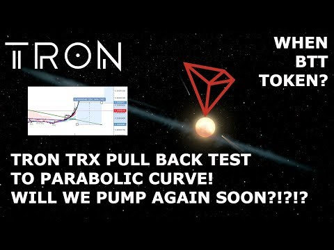 TRON TRX PULL BACK TEST TO PARABOLIC CURVE! WILL WE PUMP AGAIN SOON?!?!?