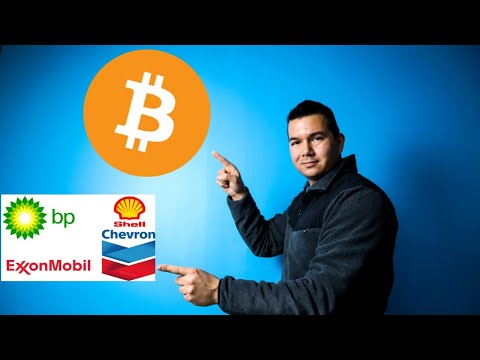 Big oil companies mining Bitcoin!