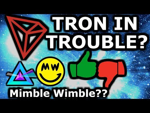 Tron Shady Business! MimbleWimble The Next Big Thing? Russia Lifts Sanctions?