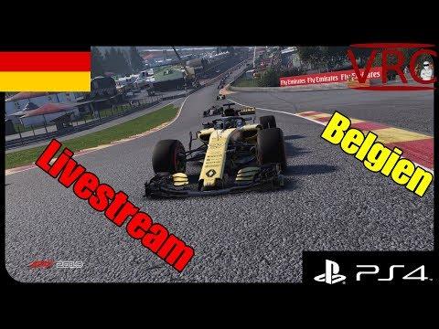 [GER] F1 2018 | VRC Ligarennen [PS4] Rennen 11 Belgien
