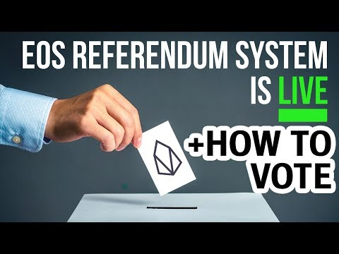The New EOS Referendum System! How to Vote. I Became a Voting Proxy (account: colintcrypto)