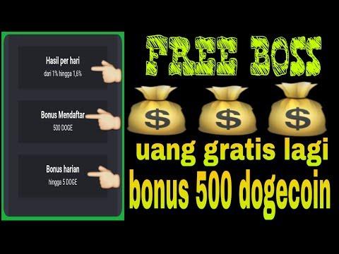 GRATIS | AMBIL BONUS 500 DOGECOIN SETELAH DAFTAR