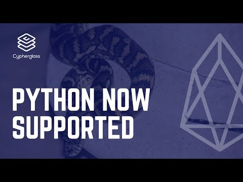 Python Support for EOS is here!