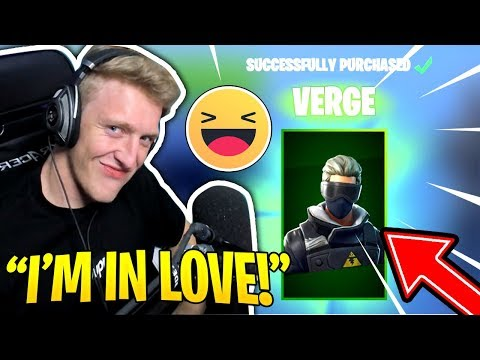 "Tfue Buys/Reacts to *NEW* ""VERGE"" SKIN in Fortnite! 