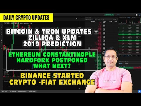 Cryptocurrency & BTC Updates Ethereum Hardfork Postponed. What Next? Zilliqa & XLM 2019 Prediction.