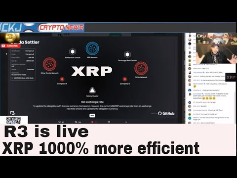 """R3 Corda Network launches..xRapid and XRP are """"1000 percent more efficient,, BIG BG123 NEW PIC"""