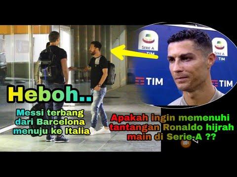 """""""HEBOH"""" Ada Apa Dengan Messi? Kemarin Tinggalkan Barcelona Menuju Italia!"""