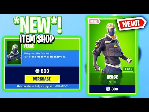 THE BRAND NEW VERGE SKIN!… Fortnite Item Shop! Daily & Featured Items! (January 15th 2019)