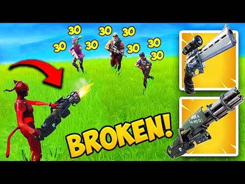*NEW* MINIGUN BUFF IS SUPER OP! – Fortnite Funny Fails and WTF Moments! #443