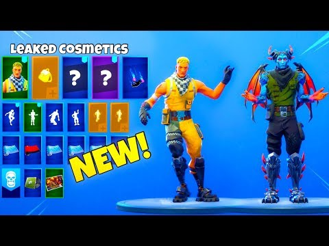 ALL LEAKED FORTNITE SKINS & EMOTES..!!! (Slick, Whirlwind, Flux, ICE QUEEN SKIN)
