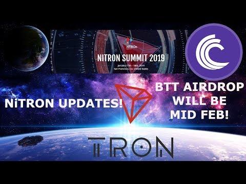 TRON TRX NiTRON UPDATES! BTT AIRDROP WILL BE MID FEB!