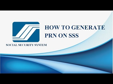 HOW TO GENERATE PRN ON SSS 2019