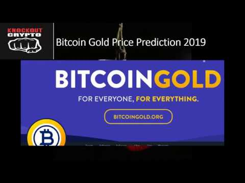 Bitcoin Gold Price Prediction 2019