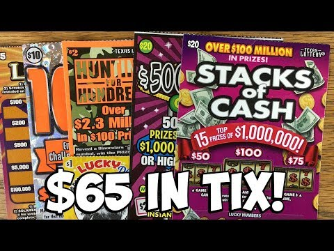 $65 IN TIX! $20 $500,000,000 Cash, $20 Stacks of Cash + More! ✦ TEXAS LOTTERY Scratch Off Tickets
