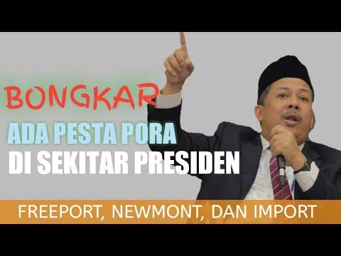Fahri Hamzah: Ada Pesta Pora di Sekitar Presiden; Soal Import, Freeport dan Newmont